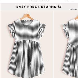 Ruffle stripe dress